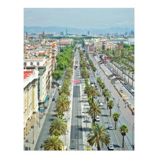 Barcelona from above letterhead