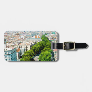 Barcelona from above luggage tag