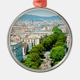 Barcelona from above metal ornament