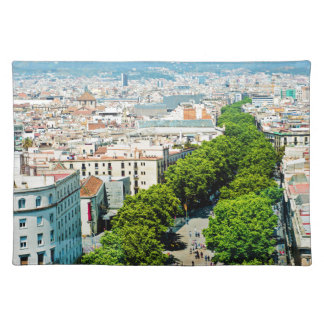 Barcelona from above placemat
