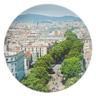 Barcelona from above plate