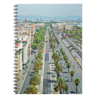 Barcelona from above spiral notebook
