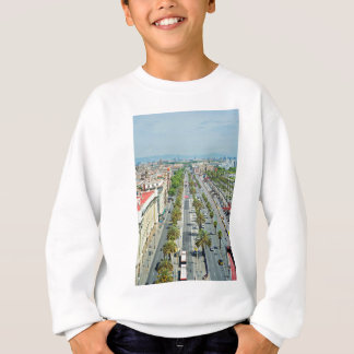 Barcelona from above sweatshirt