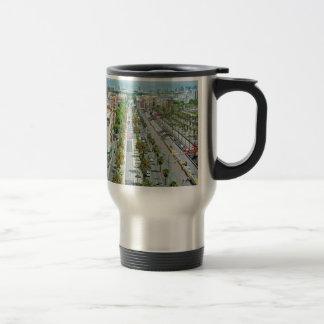 Barcelona from above travel mug