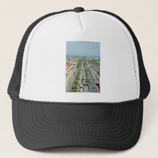 Barcelona from above trucker hat
