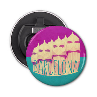 Barcelona Gaudi Paradise Button Bottle Opener
