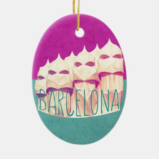 Barcelona Gaudi Paradise Oval Ornament