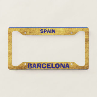 Barcelona Gold License Plate Frame