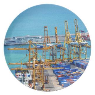 Barcelona harbour plates
