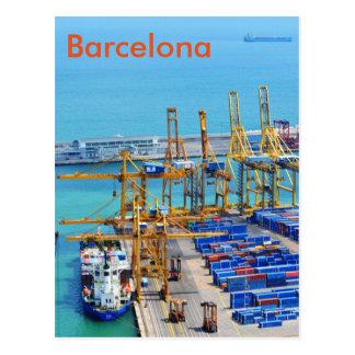 Barcelona harbour postcard