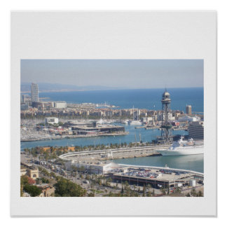 Barcelona Harbour Poster