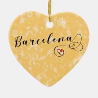 Barcelona Heart, Christmas Tree Ornament