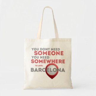 Barcelona Love designed by Tipfriend Jana Tote Bag