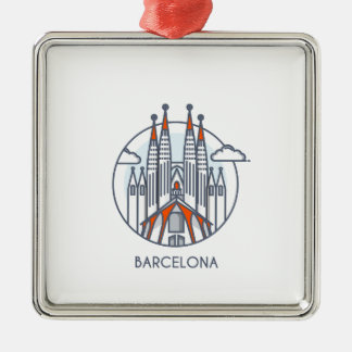 Barcelona Metal Ornament