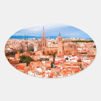 Barcelona Oval Sticker