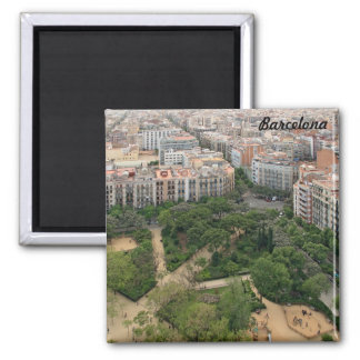Barcelona panorama from Sagrada Familia Magnet