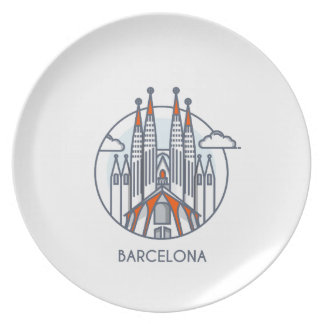 Barcelona Party Plate