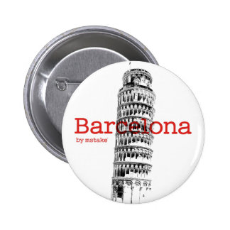 Barcelona-Pisa by mstake 2 Inch Round Button