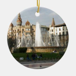 Barcelona--Plaza--Catalunya--[kan.k].JPG Ceramic Ornament