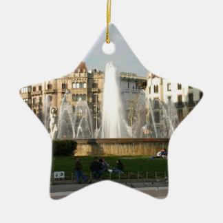 Barcelona--Plaza--Catalunya--[kan.k].JPG Ceramic Star Ornament