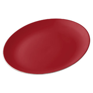 Barcelona Red Pearl color Porcelain Plates