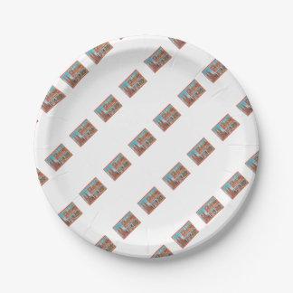 Barcelona retrospect 7 inch paper plate