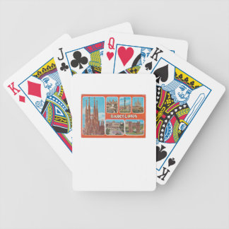 Barcelona retrospect bicycle playing cards