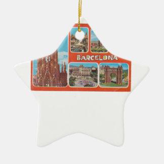 Barcelona retrospect ceramic ornament