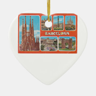 Barcelona retrospect ceramic ornament