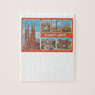Barcelona retrospect jigsaw puzzle