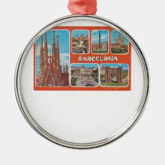 Barcelona retrospect metal ornament