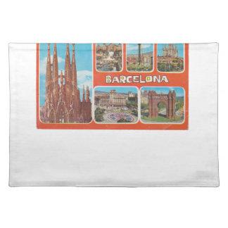 Barcelona retrospect placemat