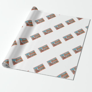 Barcelona retrospect wrapping paper