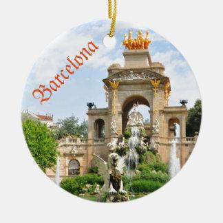 Barcelona Round Ceramic Ornament