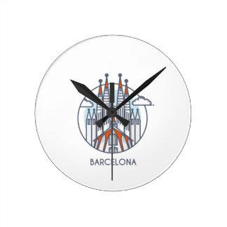 Barcelona Round Clock