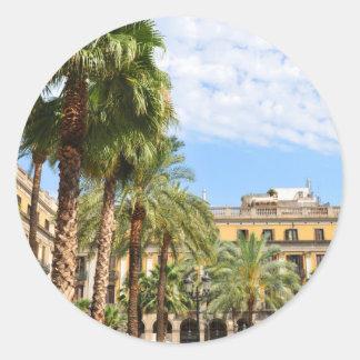 Barcelona Round Sticker