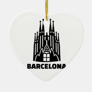 Barcelona Sagrada Familia Ceramic Ornament