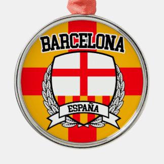 Barcelona Silver-Colored Round Ornament