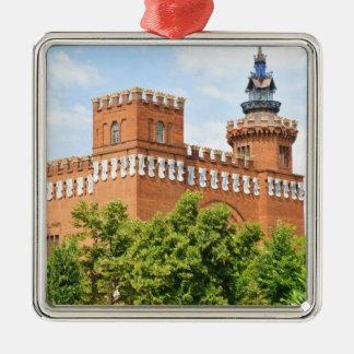 Barcelona Silver-Colored Square Ornament