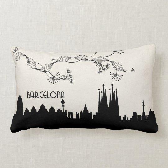 barcelona skyline deco lumbar pillow