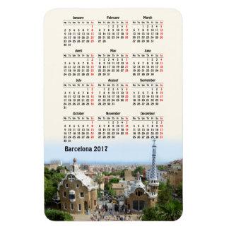 Barcelona, Spain 2017 calendar Rectangular Photo Magnet