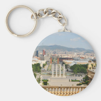 Barcelona, Spain Basic Round Button Keychain