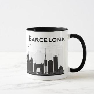 Barcelona, Spain | Black & White City Skyline Mug
