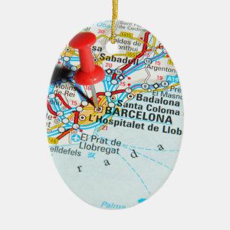 Barcelona, Spain Ceramic Ornament