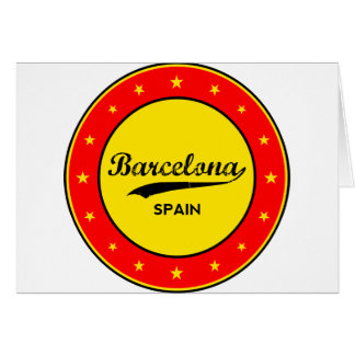 Barcelona, Spain, circle Card