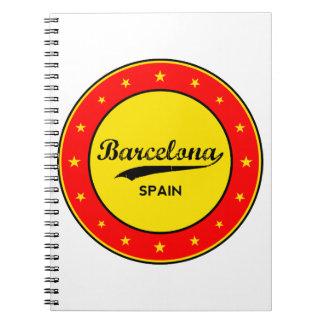 Barcelona, Spain, circle Notebooks
