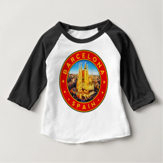 Barcelona, Spain, circle, red Baby T-Shirt