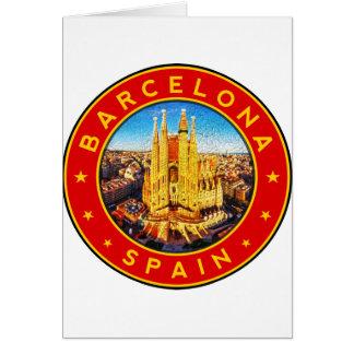 Barcelona, Spain, circle, red Card