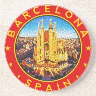 Barcelona, Spain, circle, red Coaster