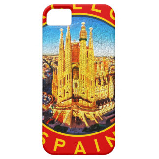 Barcelona, Spain, circle, red iPhone 5 Case